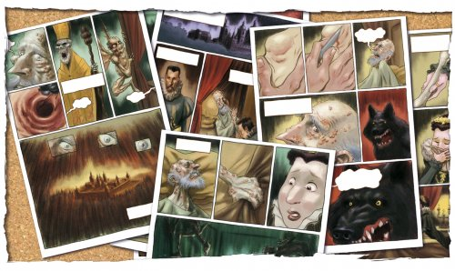 """La Fase Final"" comic pages"