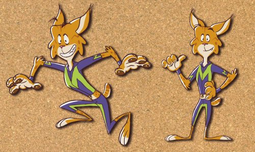 Mascot design for Megajump company
